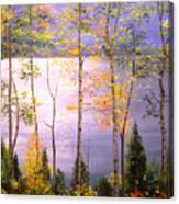 Silvery Blue Canvas Print