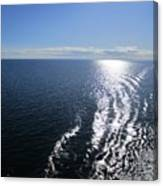 Silvery Ocean Canvas Print