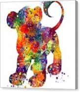 Simba The Lion King Watercolor Art  Canvas Print