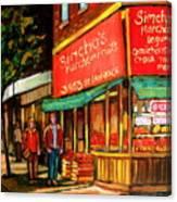 Simchas  Fruit Store Canvas Print