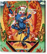 Simhamukha - Lion Face Dakini Canvas Print