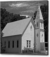 Simple Country Church - Bw Canvas Print