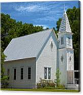 Simple Country Church Canvas Print
