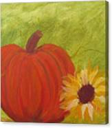 Simple Lone Pumpkin Canvas Print