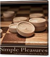 Simple Pleasures Poster Canvas Print