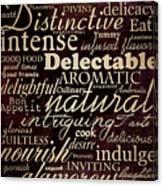Simple Speak Dining Canvas Print