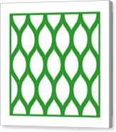 Simplified Latticework With Border In Dublin Green Canvas Print