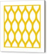 Simplified Latticework With Border In Mustard Canvas Print