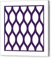 Simplified Latticework With Border In Purple Canvas Print