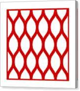 Simplified Latticework With Border In Red Canvas Print