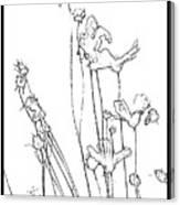 Simplistic Flower Sketch Canvas Print