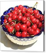 Simply A Bowl Of Cherries Canvas Print