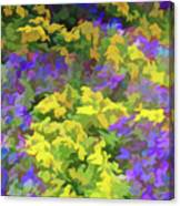 Simply Soft Colorful Garden Canvas Print