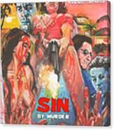Sin By Murder Poster B Canvas Print