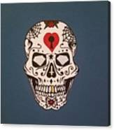 Sin Sugar Skull Canvas Print