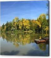 Sindelfingen Germany Lake Klostersee Panorama Canvas Print