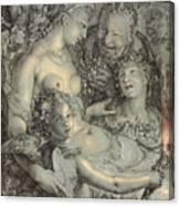 Sine Cerere Et Libero Friget Venus Canvas Print