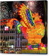 Singapore Chinatown 2017 Lunar New Year Fireworks Canvas Print