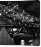 Singapore Helix Bridge Canvas Print
