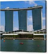Singapore Ship Top Canvas Print