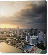 Singapore Storm Brewing Canvas Print