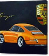 Singer Porsche Canvas Print