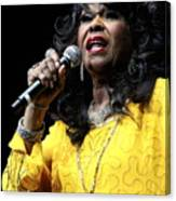 Singer Shirley Alston Reeves  Canvas Print