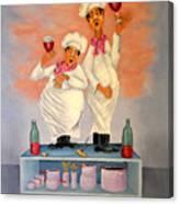 Singing Chefs Canvas Print