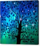 Singing In The Aurora Tree Canvas Print