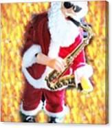 Singing Santa Canvas Print
