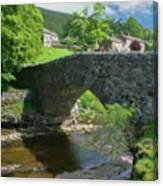 Single Arch Stone Bridge - P4a16018 Canvas Print
