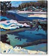 Singular Ice And Snow Canvas Print