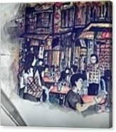 Siniawan Street In Borneo Canvas Print