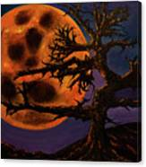 Sinister Moon Canvas Print