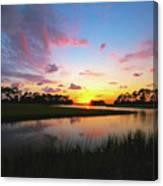 Sink Creek Sunset Canvas Print