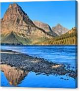 Sinopah Mountain Panoramic Reflections  Canvas Print