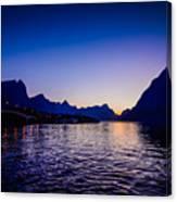 Sinset Over Lofoten Islands Canvas Print