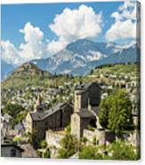 Sion Old Town In Switzerland Canvas Print