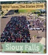 Sioux Falls Rise/shine 2 W/text Canvas Print