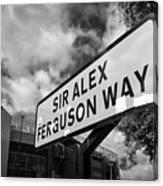 sir alex ferguson way old trafford Manchester Canvas Print