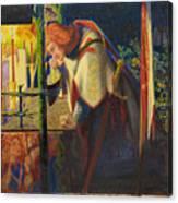 Sir Galahad At The Ruined Chapel Canvas Print