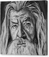 Sir Ian Mckellen As Gandalf The Grey Canvas Print