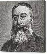 Sir Walter Besant, 1836 -1901. English Canvas Print