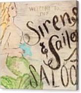 Siren Saloon Canvas Print