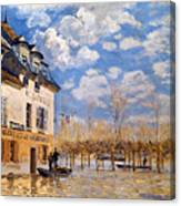 Sisley: Flood, 1876 Canvas Print