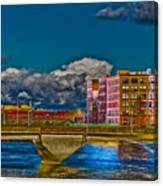 Sister Cities Pedestrian Bridge Canvas Print