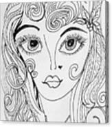 Sisterhood Of The Doodling Pens 4 Canvas Print