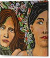 Sisters In Art Canvas Print