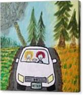 Sisters Road Trip Canvas Print
