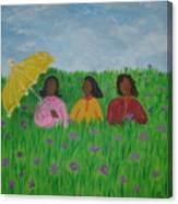 Sisters Talk Canvas Print